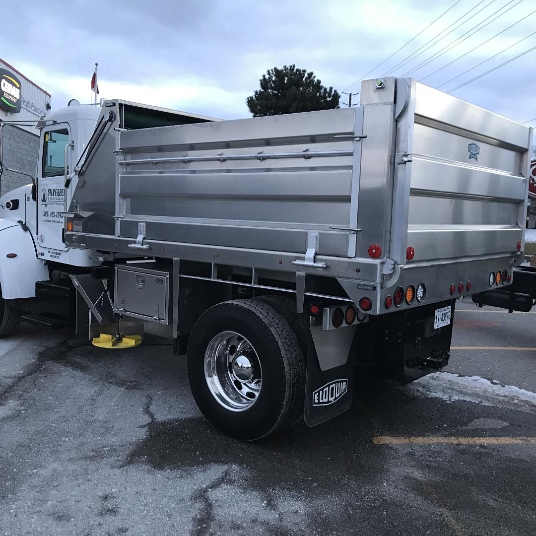 Summer landscaping truck - Silverbel Landscaping & Snowplowing