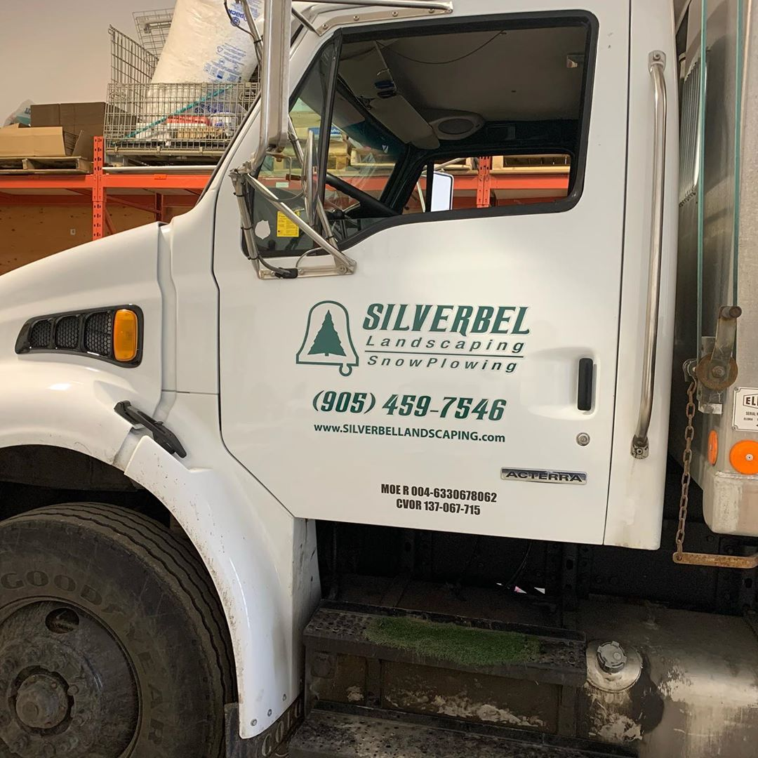 Landscaping truck - Silverbel Landscaping & Snowplowing